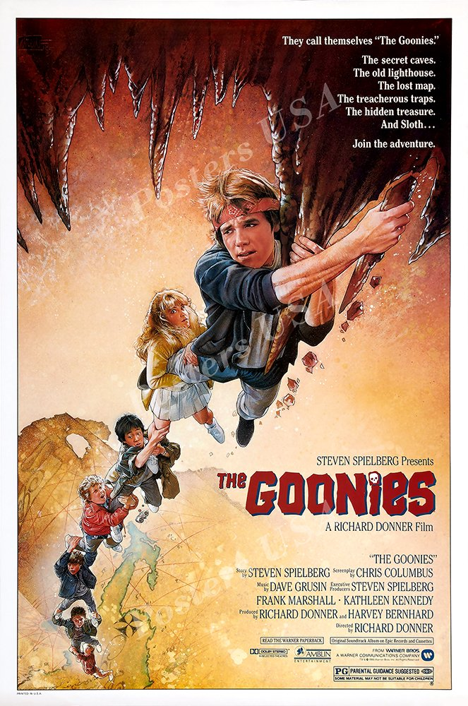 """Posters USA - Goonies GLOSSY FINISH Movie Poster - FIL437 (24"""" x 36"""" (61cm x 91.5cm))"""