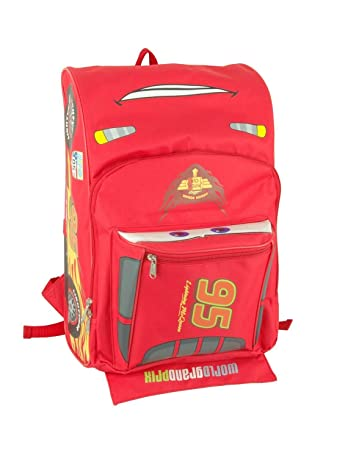 3436ec5f095 Image Unavailable. Image not available for. Colour  Disney 16 quot  Pixar Cars  Lightning Mcqueen Backpack-Tote-Bag-School