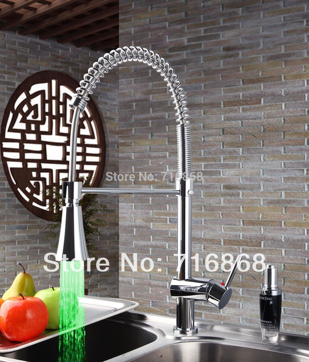 5151buyworld mit LED-Licht, verchromt, faucetfor Bad Küche gaden