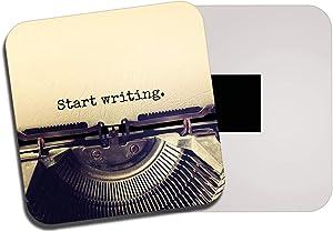 Destination Vinyl Ltd Start Writing Typewriter Fridge Magnet - Retro Writer Student 14180