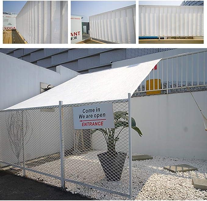 Feifei 80% UV Sombra Tela Sunblock Sombra Red de Malla Sombra Lona para Flores, Plantas, Patio Césped Pérgola Cubierta Porche (Color : Blanco, Tamaño : 4×6m): Amazon.es: Hogar
