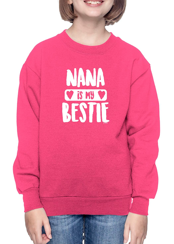 Grandma Granny Toddler Fleece Crewneck Sweater Nana is My Bestie