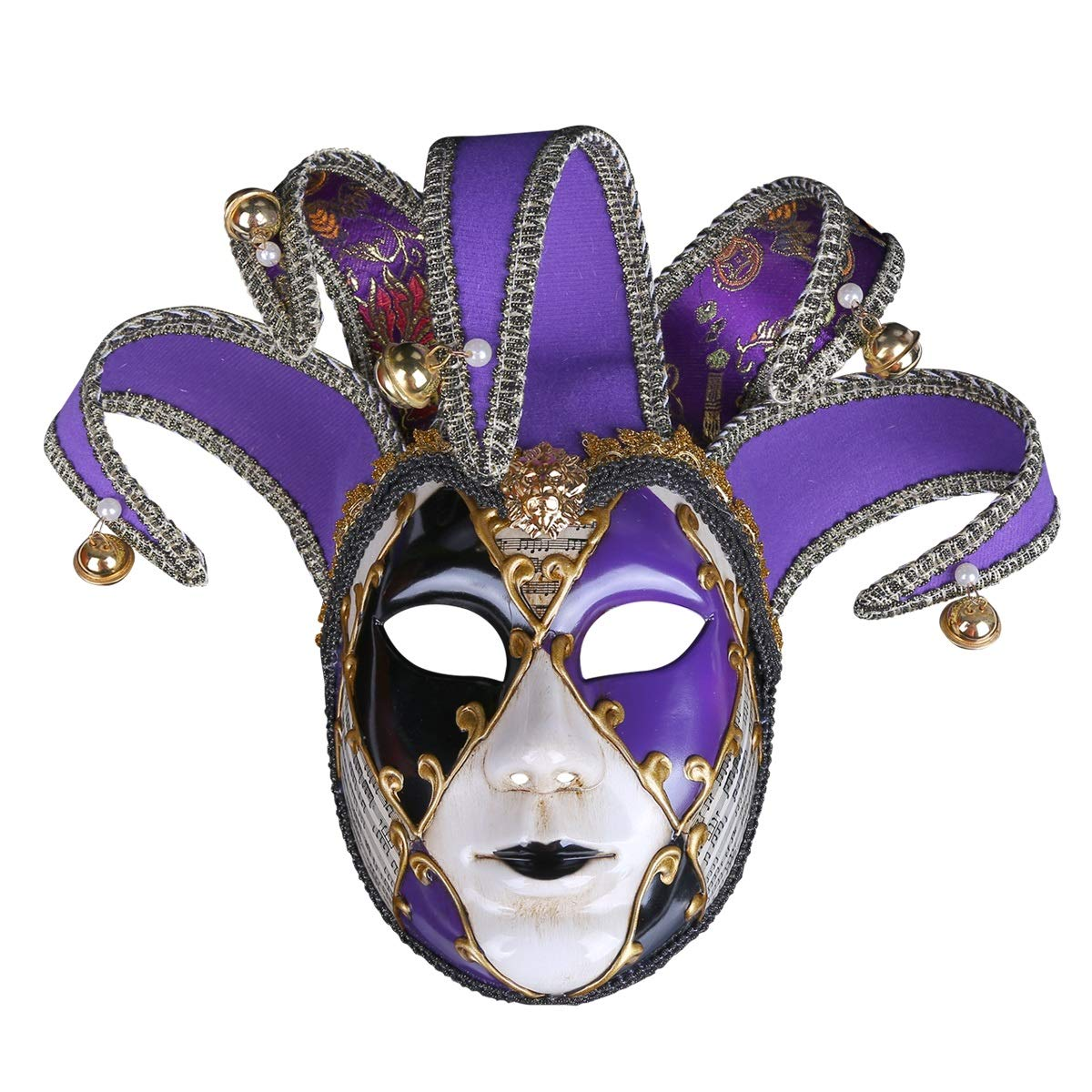 ZYLE-MASK European and American Painted Halloween Masks, Prom Party Masks Upscale Venice Performance Masks for Ladies (Color : Purple)