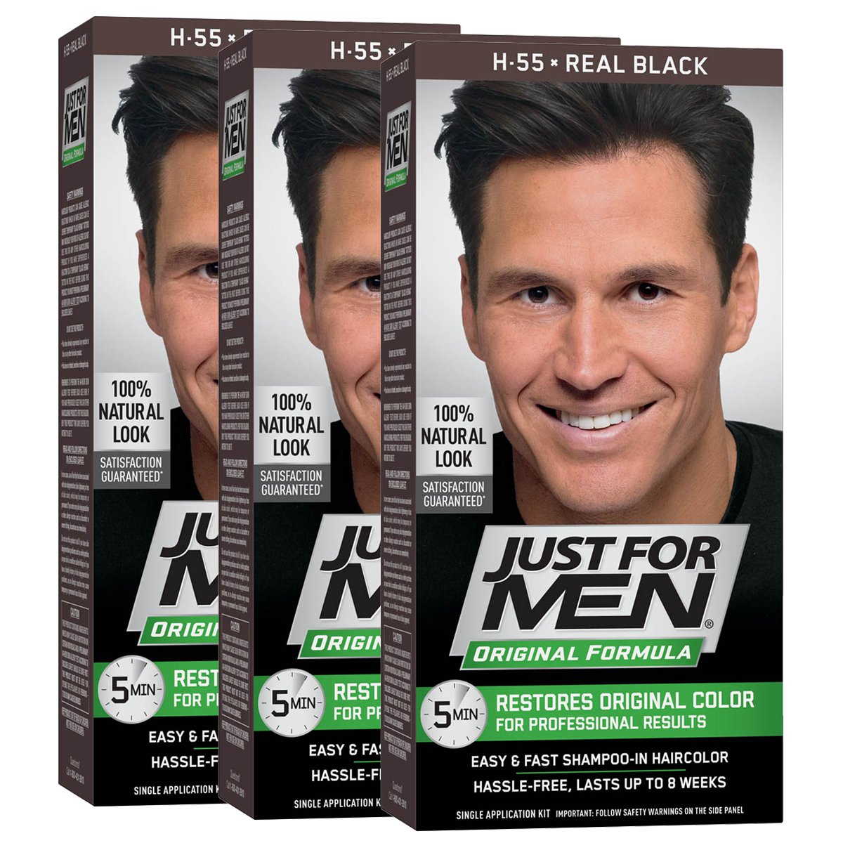 Amazon.com : Just For Men Original Formula Men\'s Hair Color, Real ...