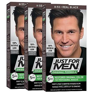 Just For Men Original Formula Men S Hair Color Real Black Pack Of 3