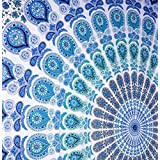 Indian Hippie Tapestries Twin Peacock Bohemian Ethnic Mandala Tapestry Wall Hanging Throw Psychedelic Bedspread By Rajrang