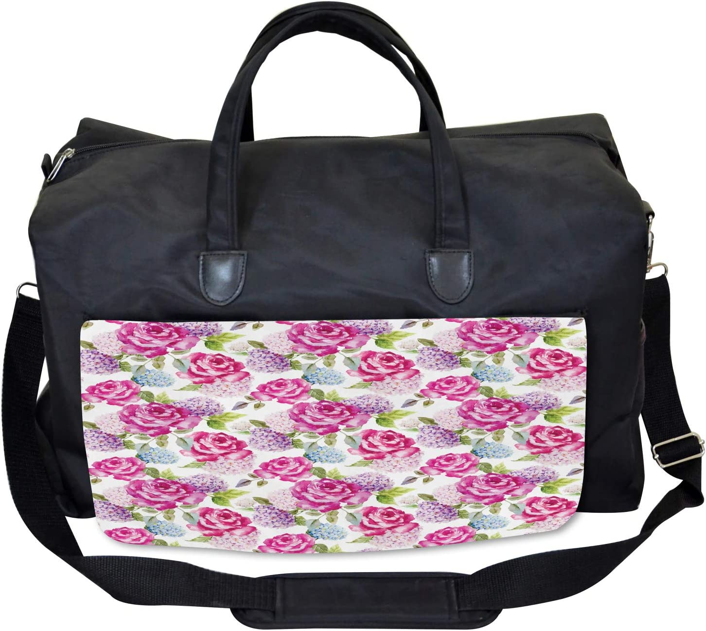 Watercolor Lavenders Ambesonne Abstract Gym Bag Large Weekender Carry-on