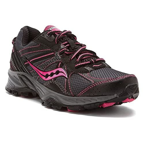 28631bb9f8 Saucony Women's Excursion TR7 TRail Running Shoe,Black/Pink 5 ...