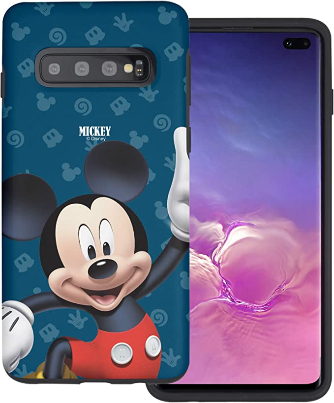WiLLBee Compatible avec Galaxy S10 Plus (6,3 cm) Cute Layered Hybrid [TPU PC] Bumper Cover – 3D Mickey Mouse