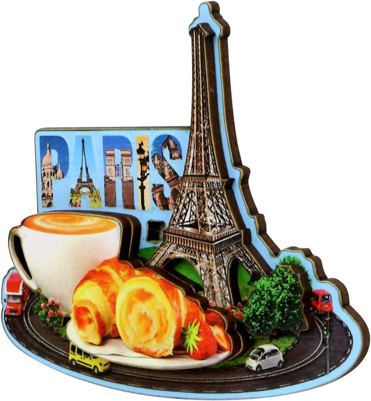 Eiffel Tower Paris Magnet French Design and Street