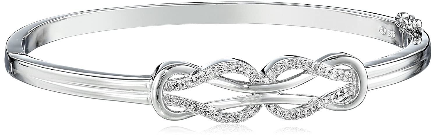 sterling visuall co diamond bracelet knot silver bangles bangle double
