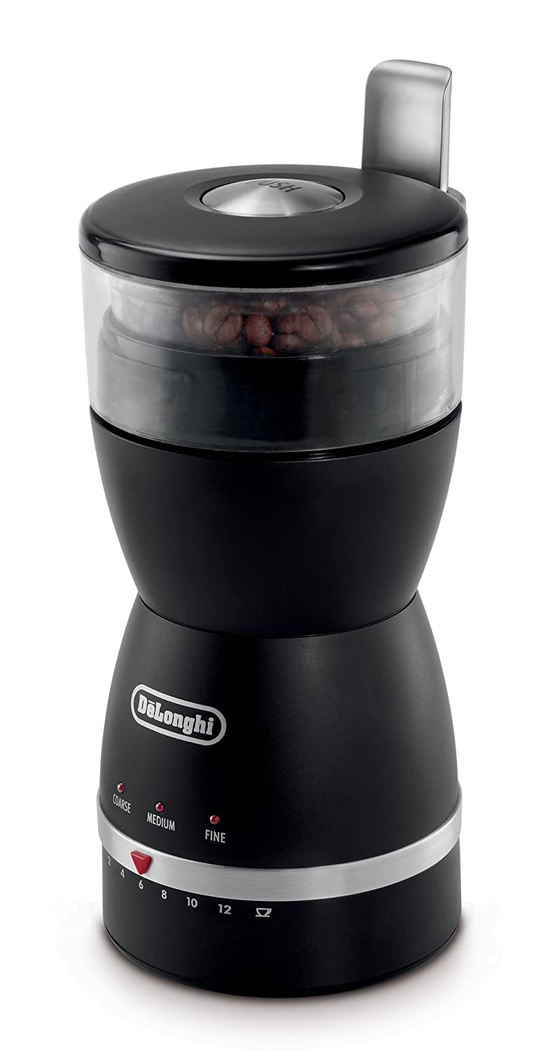 DeLonghi KG49 Electronic Coffee-Bean Grinder with 3 Grind Settings