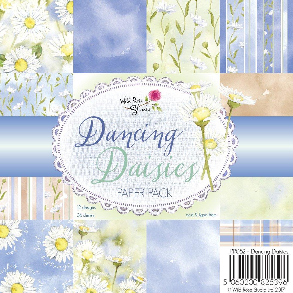 Wild rose studio dancing daisies patterned paper multi colour 05 wild rose studio dancing daisies patterned paper multi colour 05 x 155 x 155 cm amazon kitchen home izmirmasajfo