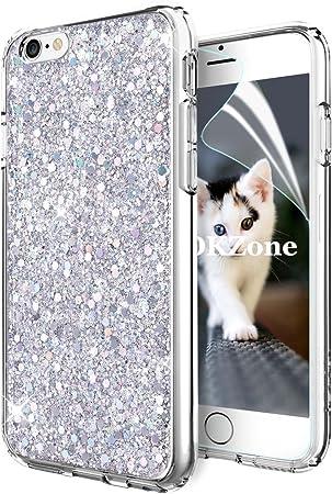 OKZone Cover iPhone 6S,Custodia iPhone 6 Custodia Lucciante con Brillantini Glitters Ultra Sottile Designer Case Cover per Apple iPhone 6 / iPhone 6S ...