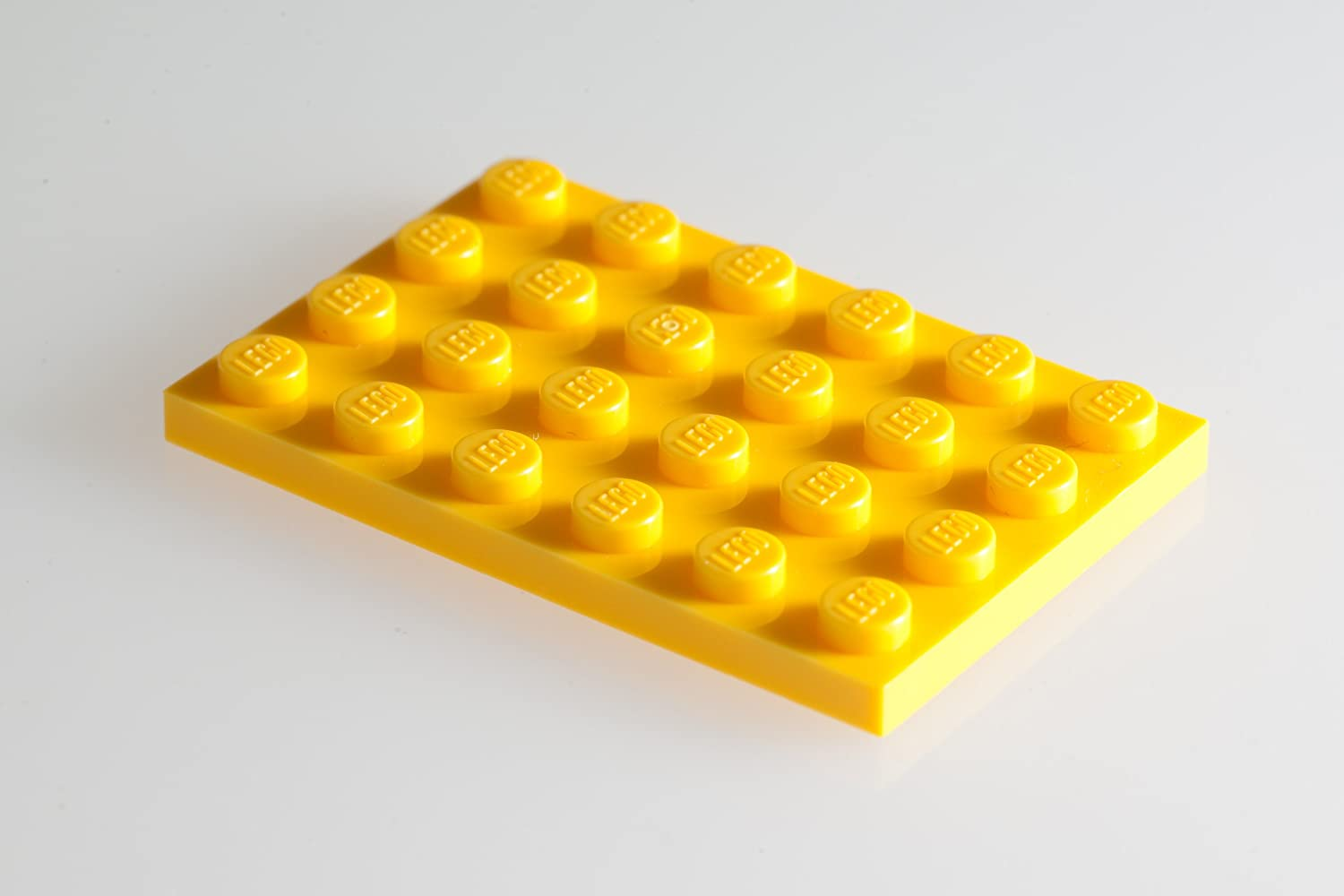 100x Lego Bright-Yellow (Yellow) 4x6 Plates Super Pack
