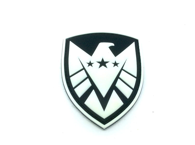 Agente de Shield escudo Vengadores brilla en la oscuridad PVC Airsoft Paintball parche Patch Nation
