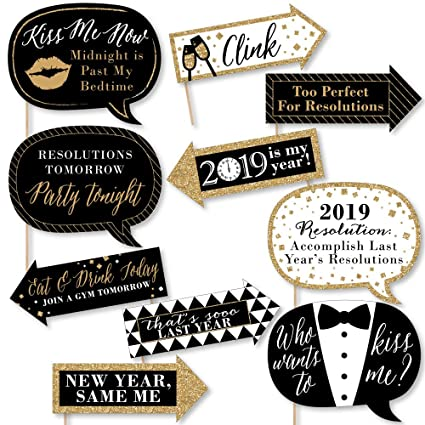 Amazoncom Big Dot Of Happiness Funny New Years Eve Gold 2019