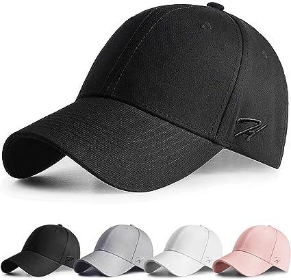 Women Men Plain Washed Cap Style Cotton Adjustable Baseball Hat Sports Accessory