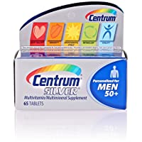 (2 Pack) Centrum Silver Men 50+, 65 Count Each