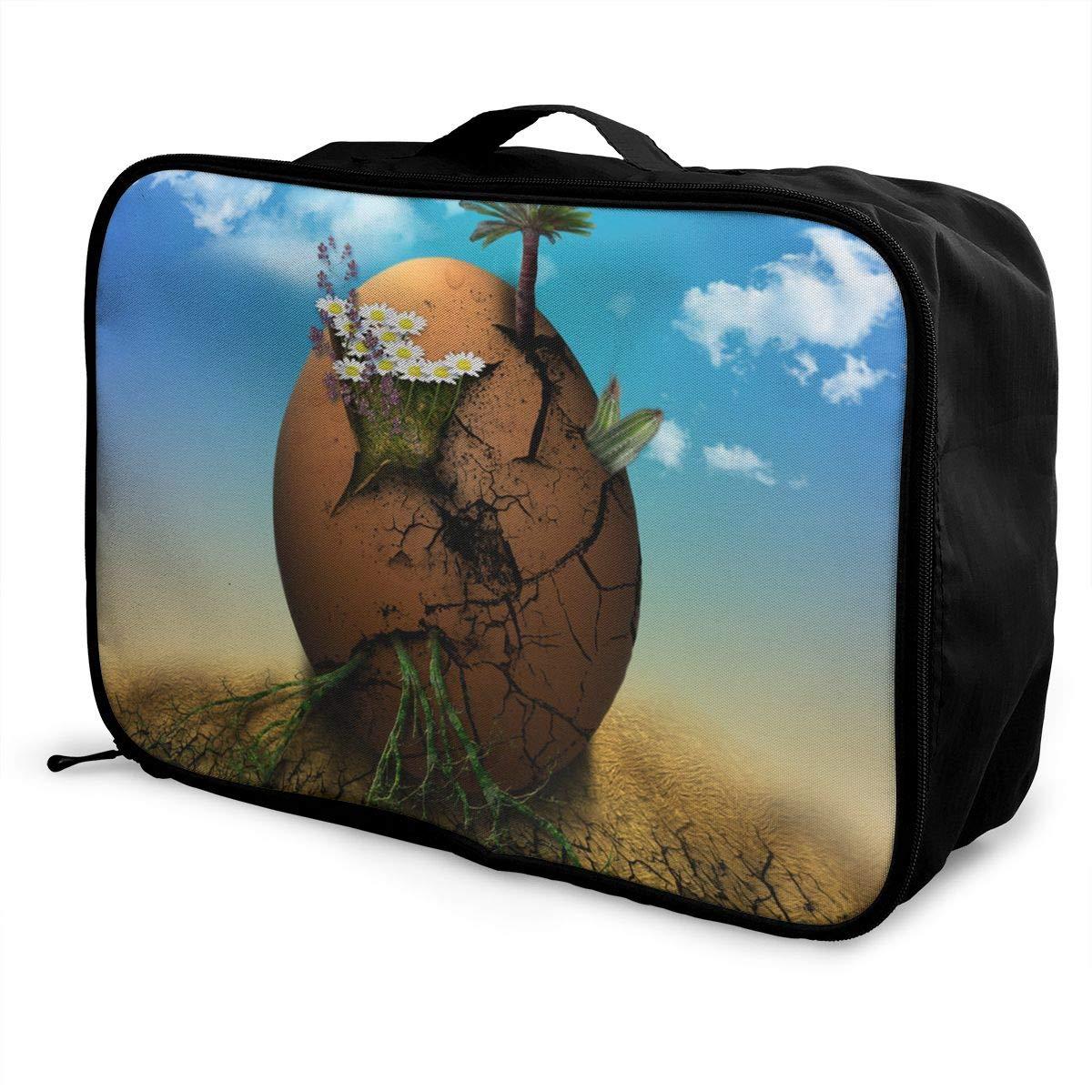 Travel Luggage Duffle Bag Lightweight Portable Handbag Egg World Large Capacity Waterproof Foldable Storage Tote