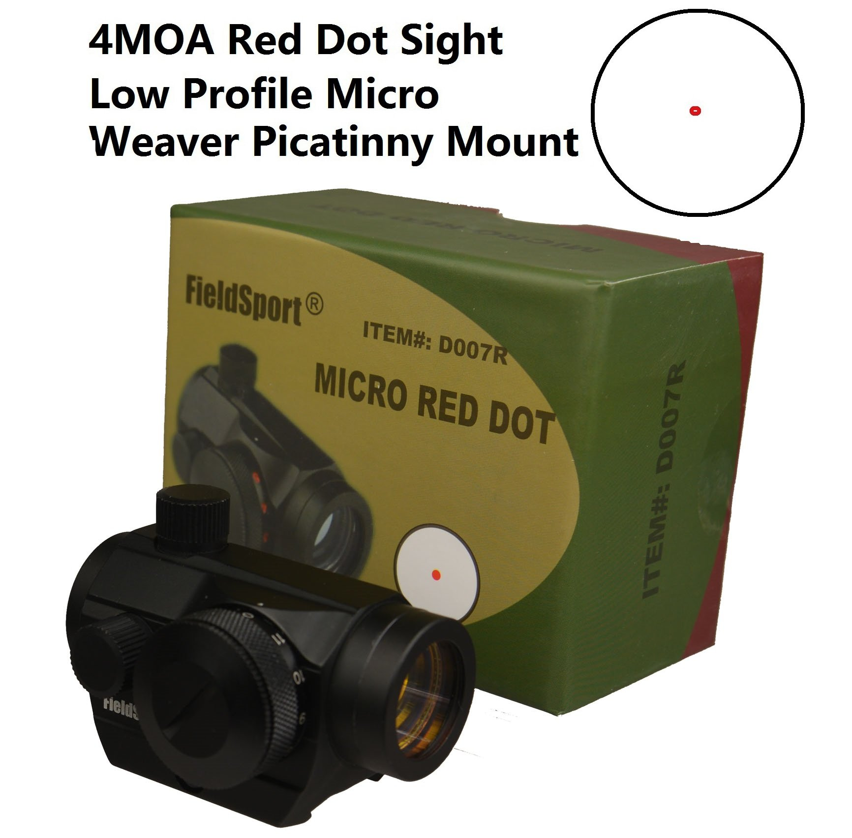 FieldSport Micro Red Dot Sight, Precision Red Dot Only No Green by Field Sport