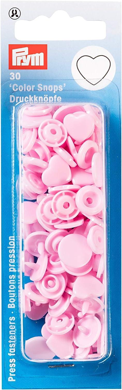 One Size Prym 393319 Sew-Free Popper Colour Snaps Heart Mint