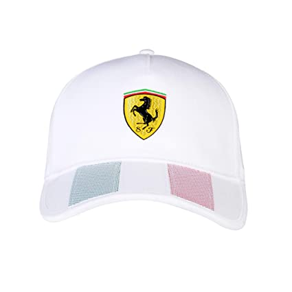 1360bb1e4d4 Amazon.com  Ferrari Mens Italian Flag Hat  Sports   Outdoors