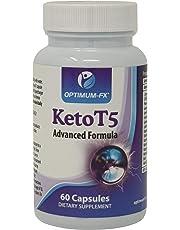 Aide Avancée Régime Cétogène Keto T5 - Brûle-Graisse - Énergisant Pur Pré-Entrainement - Pilules Amincissantes Perte de Poids - Combustion des Graisses (60 Gélules Végétariennes et Véganes) 30 Jours