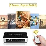5x1 HDMI Switch 2.0,ZANYA Intelligent 4K@60Hz Ultra