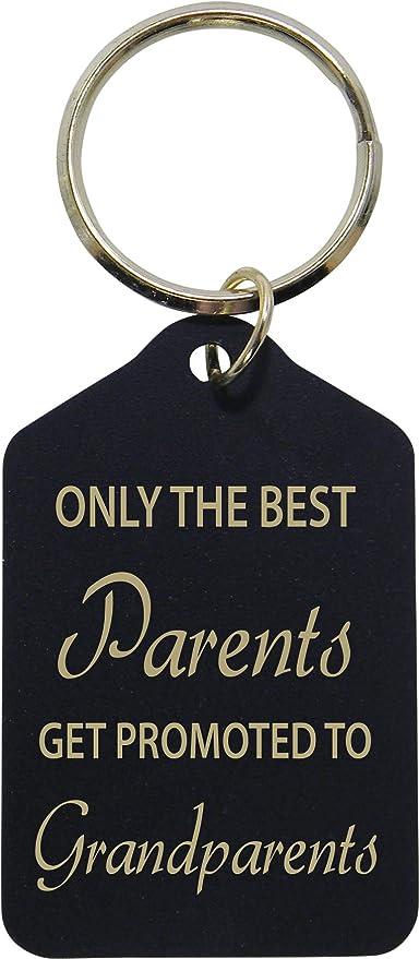 Solo la Mejor padres Get ascendido a abuelos - negro latón ...