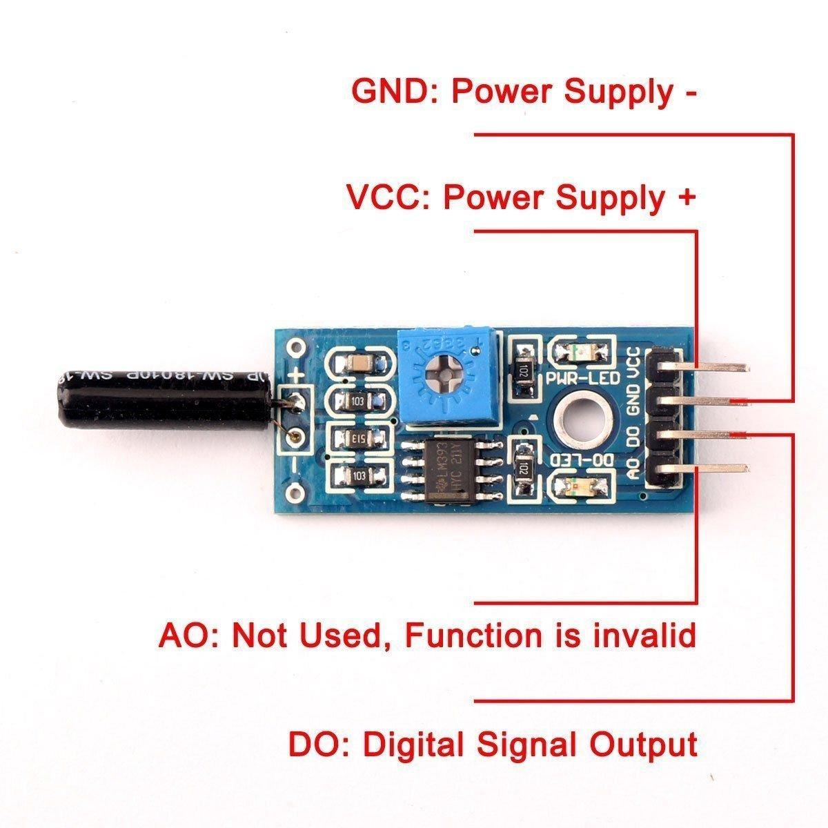 ARCELI 5PCS High Sensitive vibration sensor module SW-18010P alarm sensor module