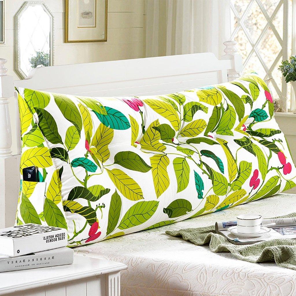 Bedside Double Pillow/ Cushions Bedside Pattern Fiber Fabric Pad (multi-color / Multi-size Optional) ( Color : A , Size : 15050cm )