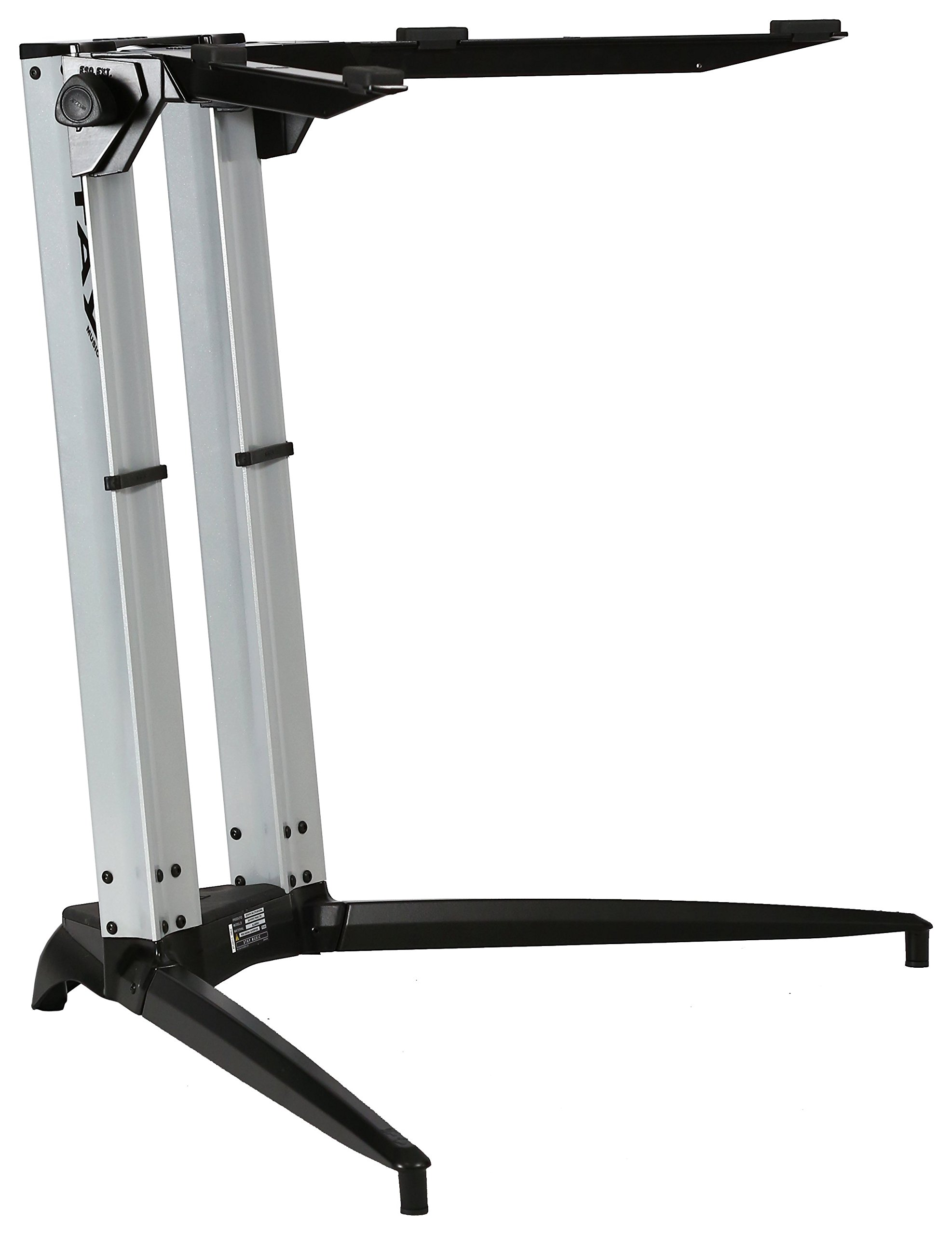Piano Series 27 Sitting Height Single-Tier Keyboard Stand Silver (PIANO 700-01-SLV)
