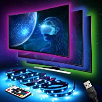 LED Strips Lights, Innoo Tech LED TV Backlight 6.6ft/4*50cm(2M) 60LEDs, 5050RGB USB Powered TV Light Strip with RF Remote PC Case Lighting kit Multi Color Bias Home TheaterLighting 40 to 60 inch HDTV