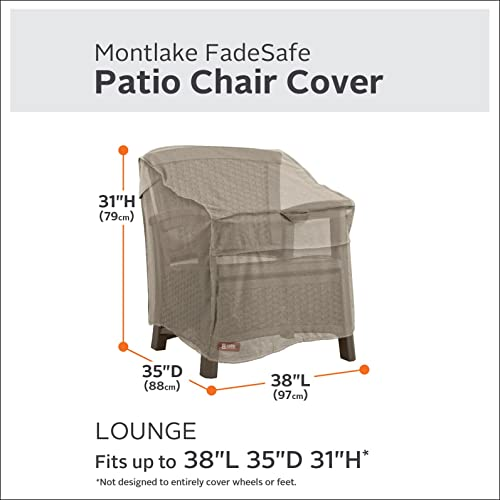Classic Accessories Montlake Water-Resistant 38 Inch Patio Lounge Chair Cover