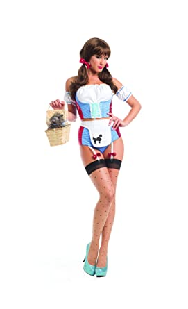 1cb86eecba563 Amazon.com: Adult Women's 6 Piece Sexy Wizard of Oz Dorothy Body ...