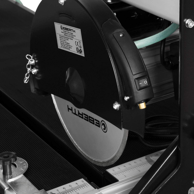 1500 Watt, Laser, schwenkbar bis 0-45/°, 52mm Schnitttiefe 90/°, 45mm Schnitttiefe 45/°, Winkelanschlag, L/ängenanschlag, Diamanttrennscheibe, Transportr/äder EBERTH 1020mm Fliesenschneidemaschine