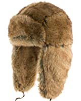 Exclusive Expedition Ushanka Soft Faux Rabbit Fur Trapper Winter Hat with Leather Straps