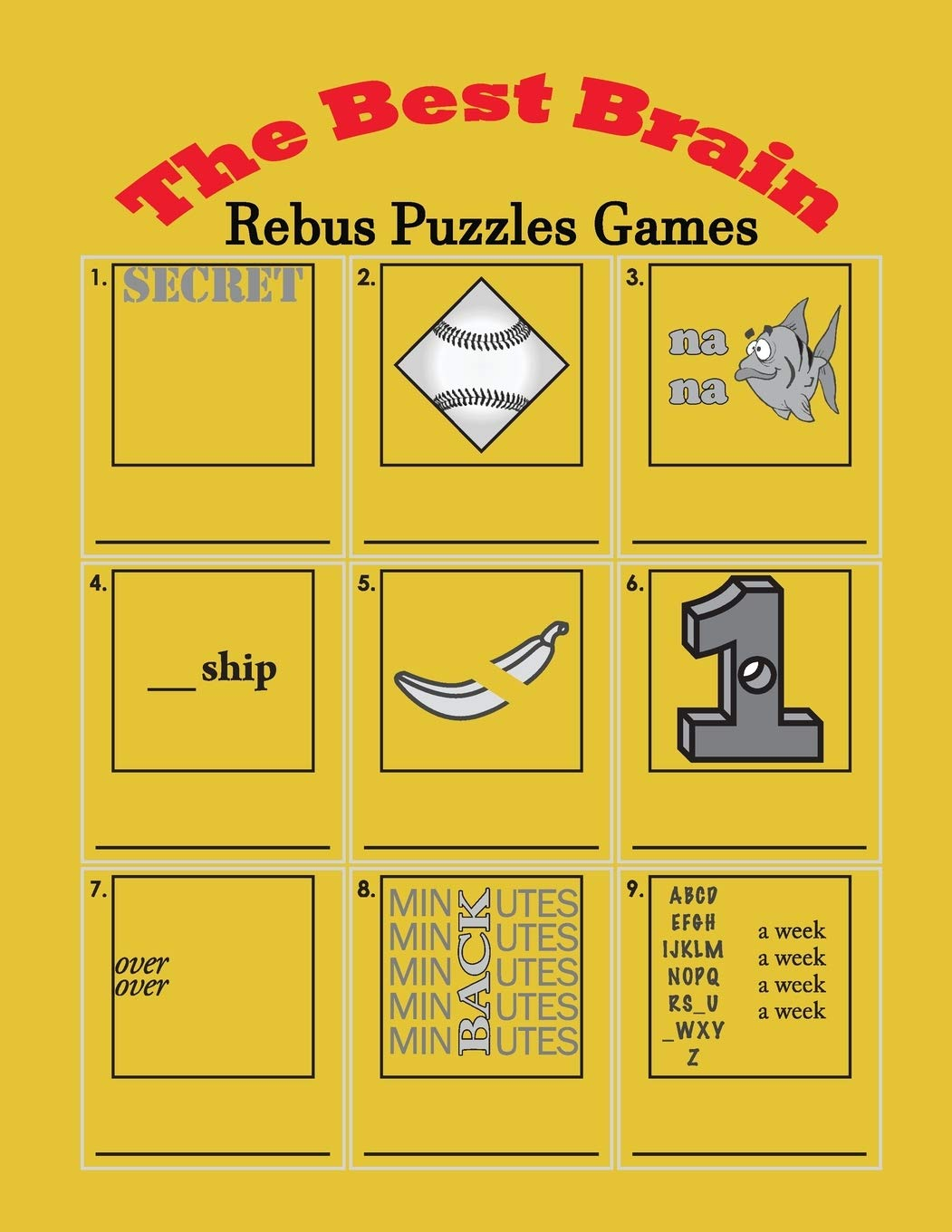 The Best Brain Rebus Puzzles Games Word Plexer Puzzle Teasers Frame Higueros Penny 9781074466756 Amazon Com Books