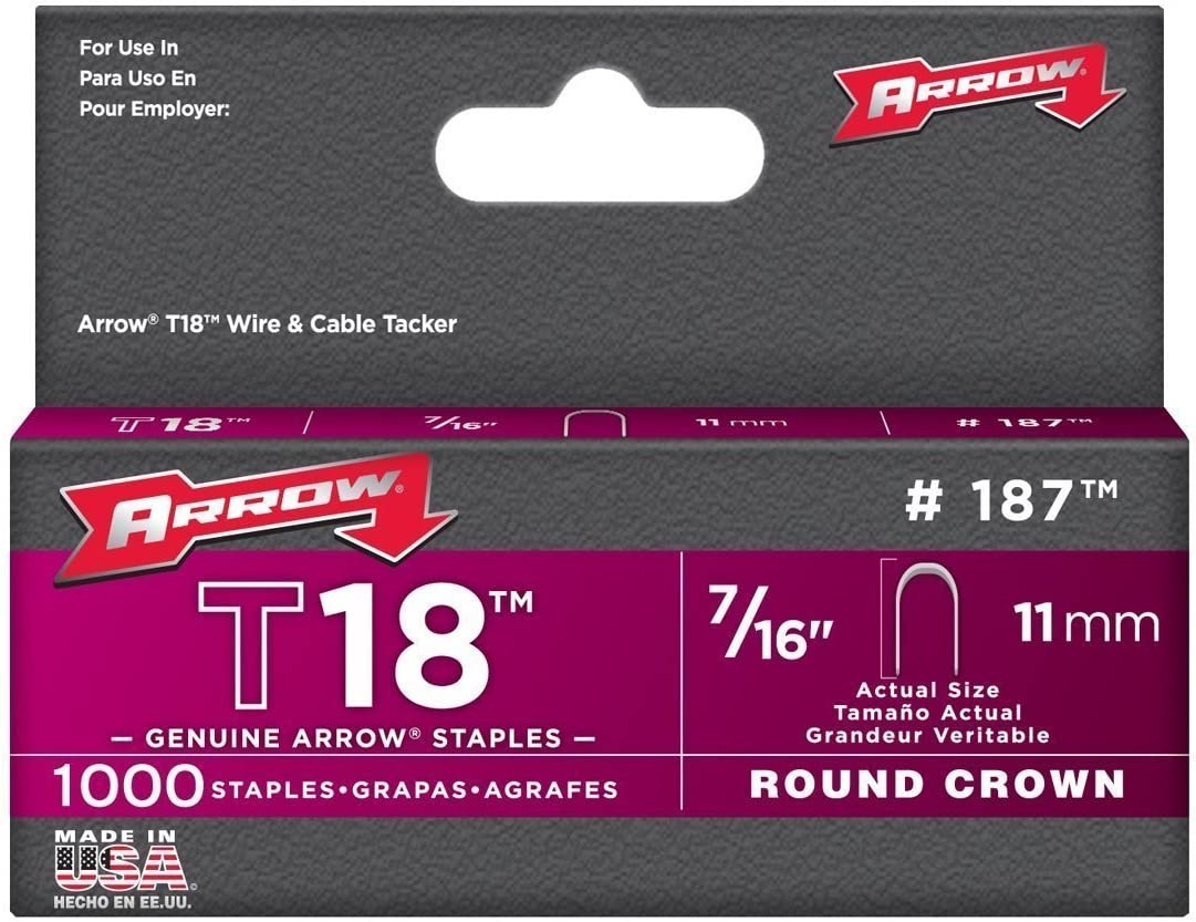 Arrow Fastener 187 7//16 T18 Staples