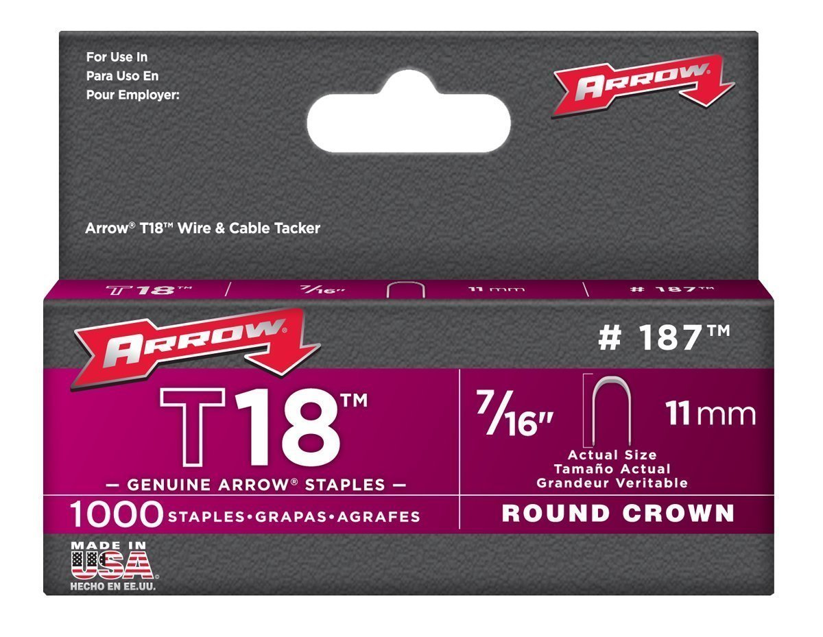 Arrow Fastener 187 7/16'' T18 Staples