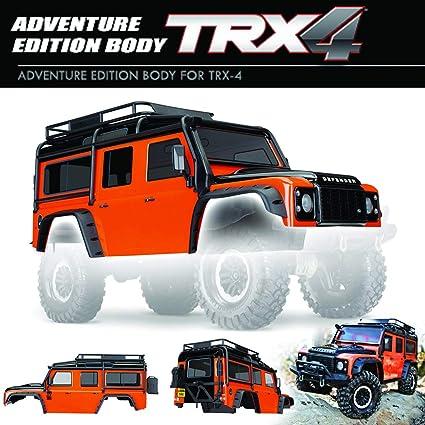 Traxxas 8011 a Cuadros Land Rover Adventure de Edition Naranja/Negro para trx4