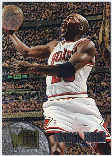 cb94a892f5fc50 Image Unavailable. Image not available for. Color  1995 Fleer Metal Michael  Jordan  13 Basketball Card ...