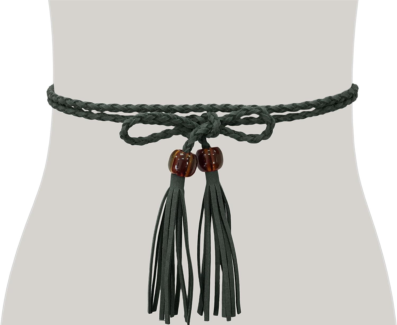 TeeYee Women Girls Waist Belt//Rope//Chain with Tassel and Beads