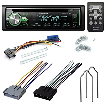 71ZidzPhsmL._SY355_ amazon com pioneer deh x4900bt cd receiver aftermarket car stereo wiring harness pioneer to ford at alyssarenee.co