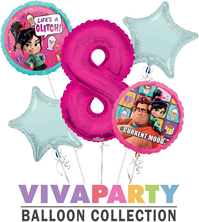 """Set of 2 18/"""" Wreck It Ralph 2 Balloons New MOVIE Current Mood Free Ship"""