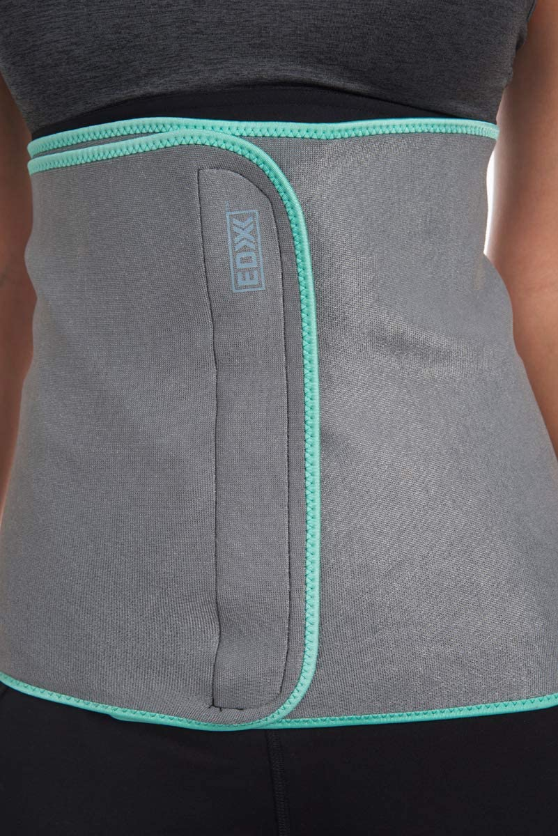 EDX Waist Trimmer 12 Inch Belt Stomach Sweat Wrap for Weight Loss for Men and Women