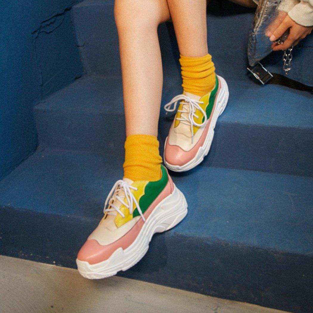 GAOLIXIA Frauen Sportschuhe Mode Wild Laufschuhe Harajuku Harajuku Harajuku Sport Freizeitschuhe Outdoor Wanderschuhe Wandern Schuhe Rosa c8c84e