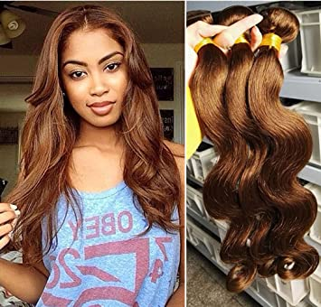 Amazon human hair extension babe hair 4 bundles brown 4 human hair extension babe hair 4 bundles brown 4 brazilian body wave virgin hair pmusecretfo Image collections