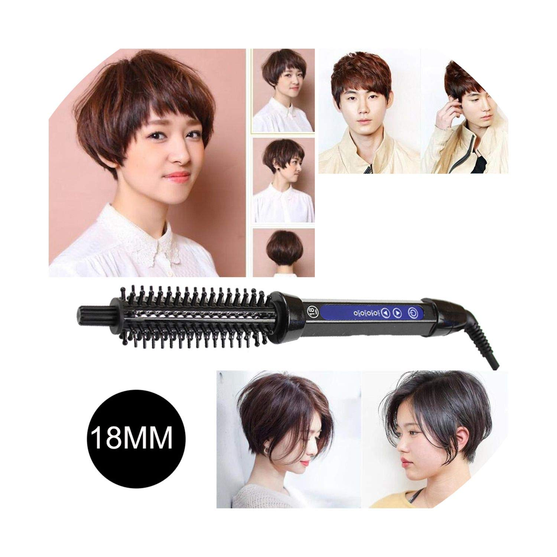 Amazon Com Hair Curling Brush Comb Curling Iron Ceramic Hair Curler Straightener Men Short Hair Big Wave Electric Hair Styling Tool 26mm Eu Beauty